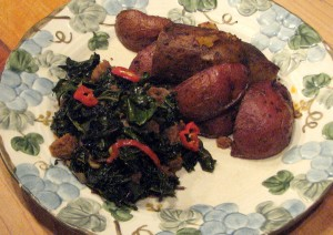 "Photo of ""Potatoes and kale"""