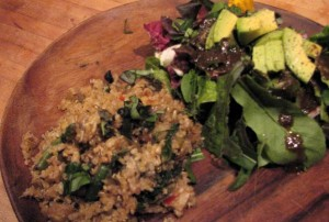 Photo of Fried rice with fermented black bean sauce; Baby green salad
