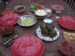 Photo of Lokelani-style tacos with Braised artichokes